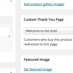 Per Product Thank You page