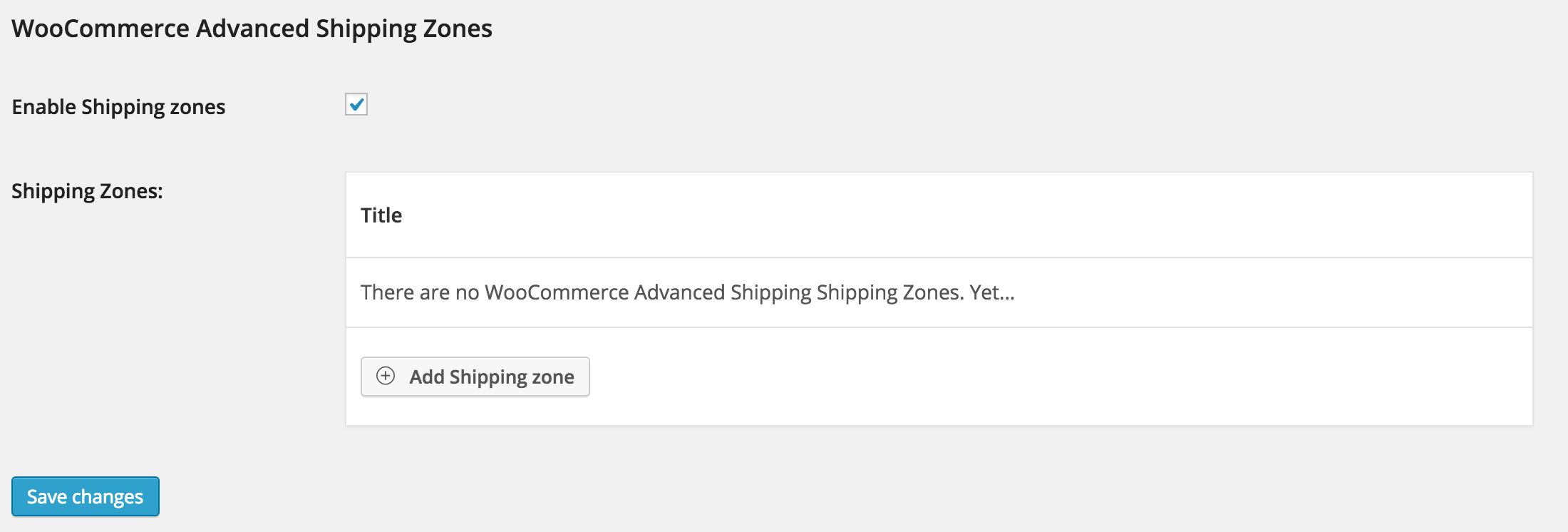 WooCommerce Advanced Shipping Zone