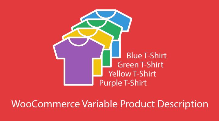 WooCommerce Variable Product Description