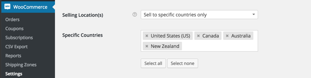 woocommerce_selling_locations