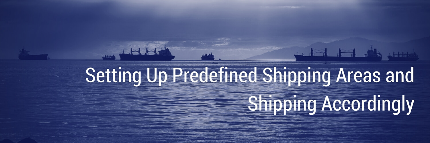 Setting Up Predefined Shipping Areas and Shipping Accordingly picture of ships on water