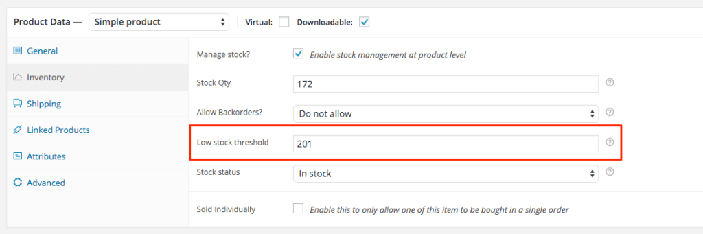 woocommerce-custom-proudct-low-stock-threshold