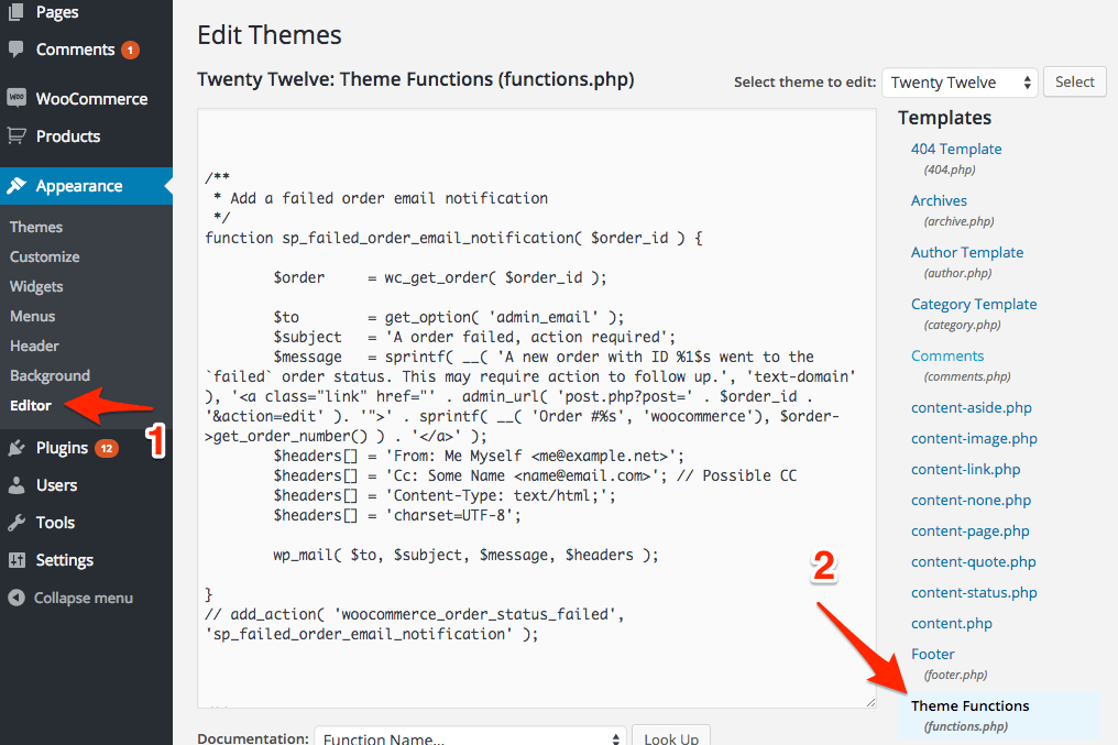 wordpress-code-snippet-functions-php