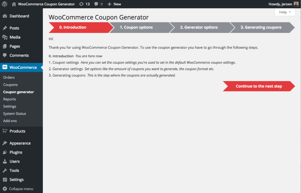 coupon-generator-for-woocommerce-step-0