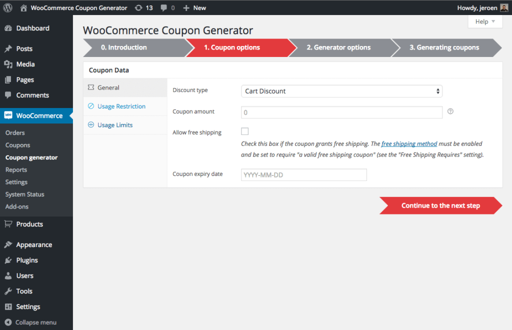 coupon-generator-for-woocommerce-step-1