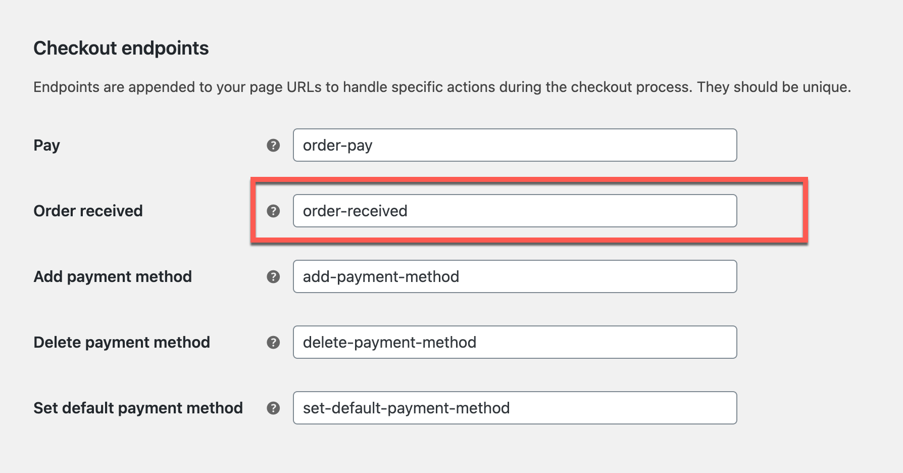 WooCommerce Redirect Endpoints