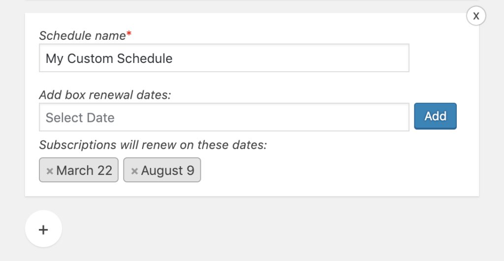 Custom Woocommerce subscription schedule