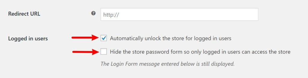 Automatically unlock for users setting