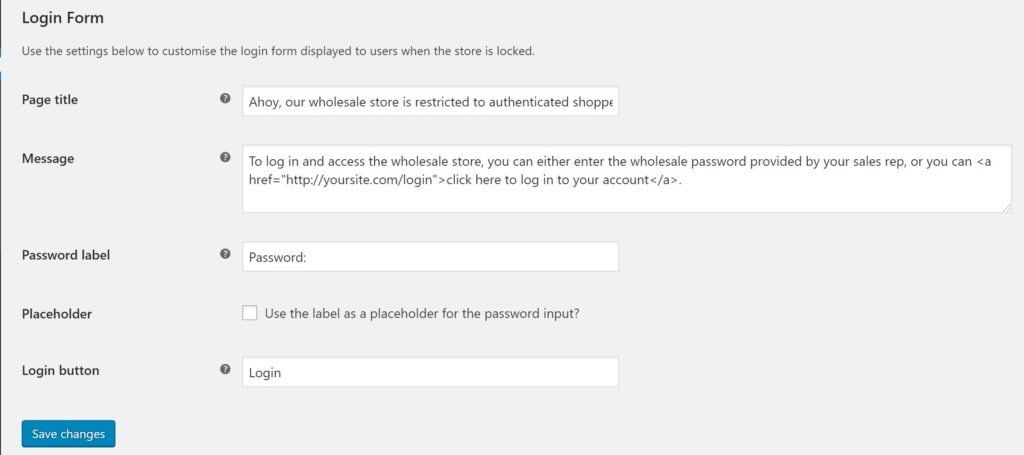 Configure the restricted store message