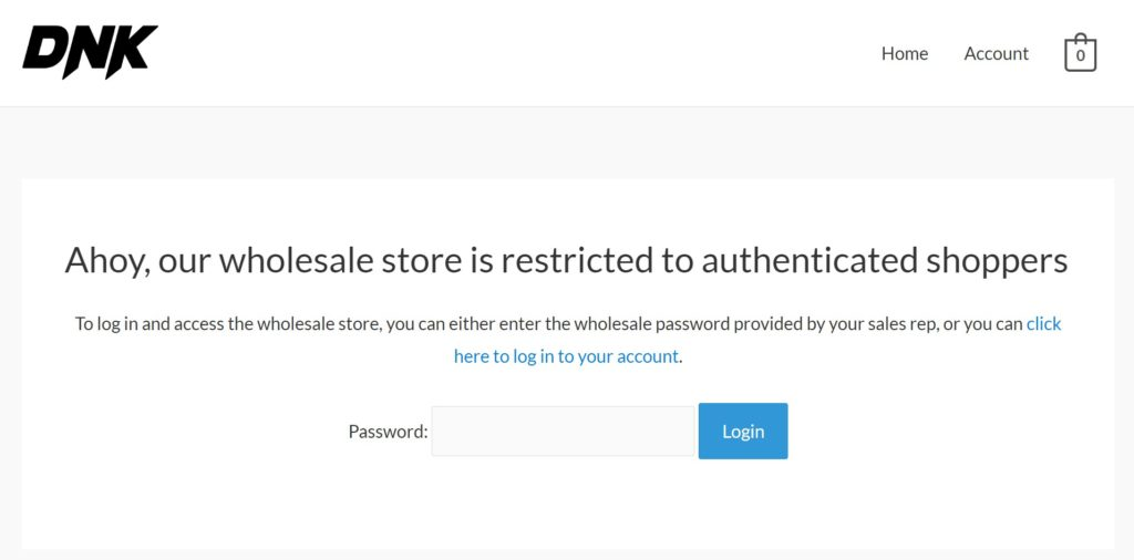 Woocommerce Wholesale Store Members Only Access page