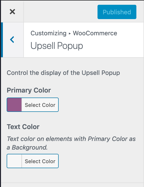 Style the upsell popup in WordPress